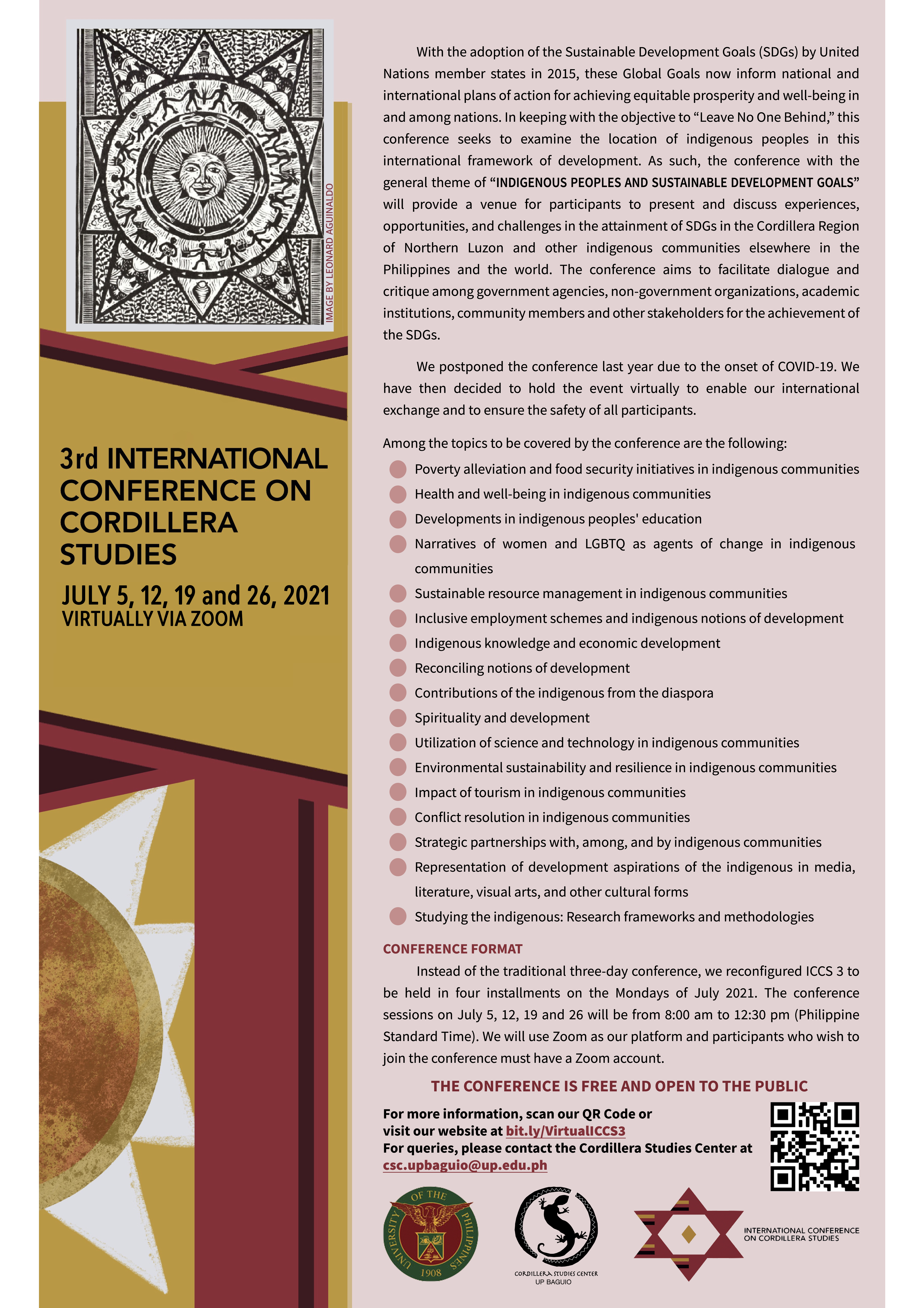 3rd International Conference on Cordillera Studies