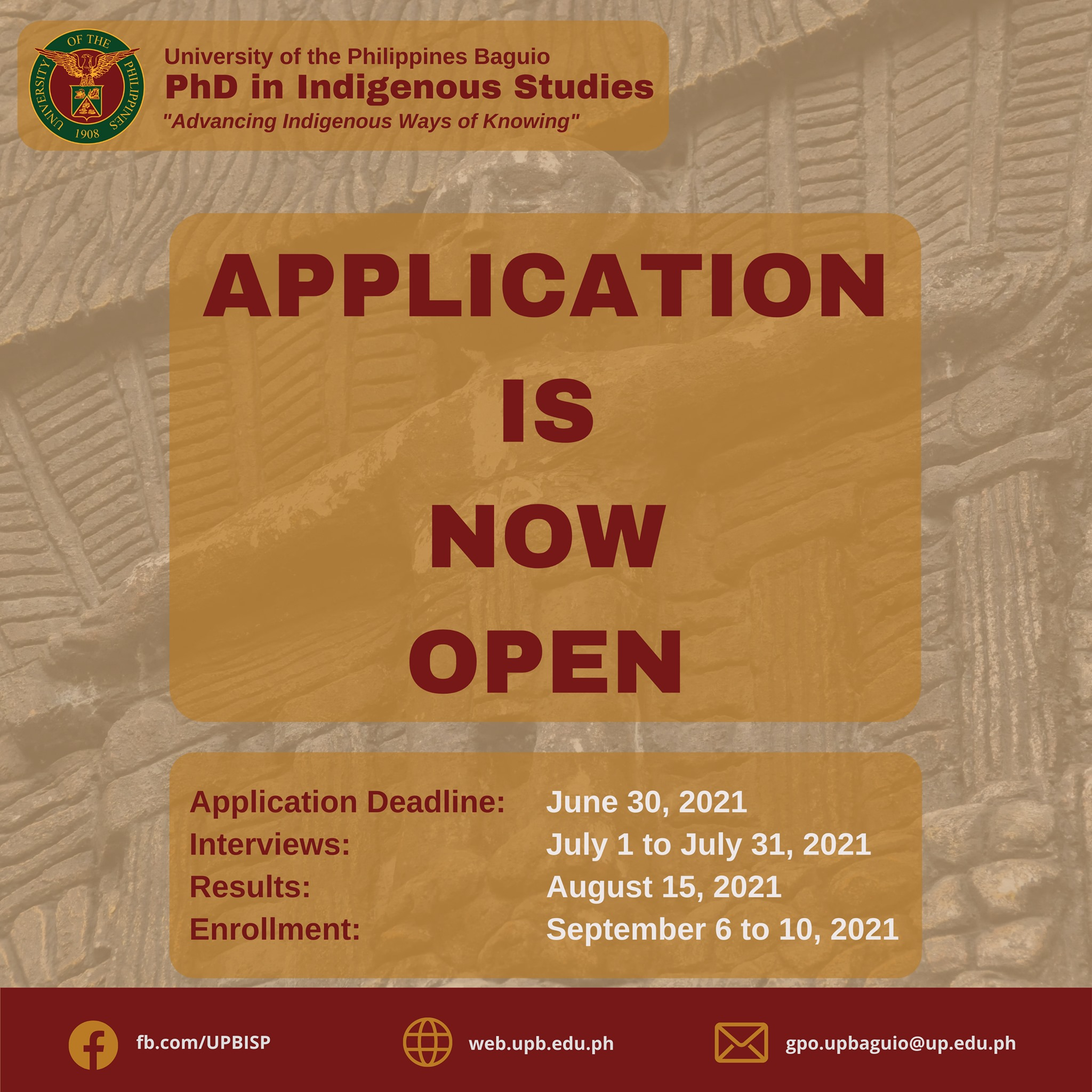 Application is Now Open